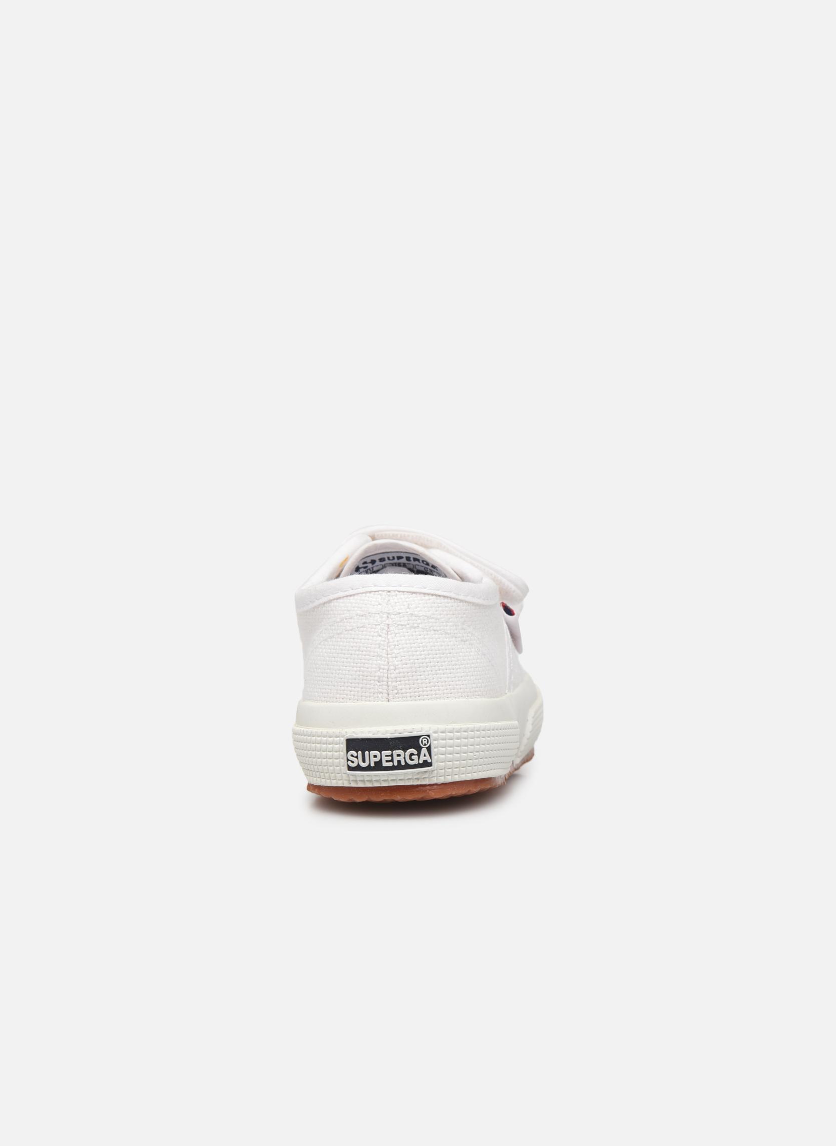 Baskets Superga 2750 J Velcro E Blanc vue droite