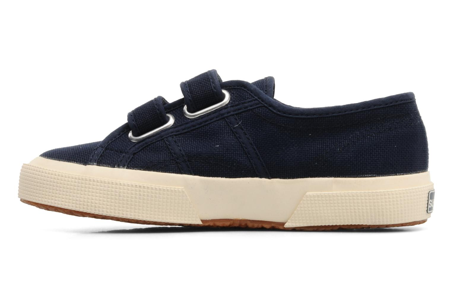 Baskets Superga 2750 J Velcro E Bleu vue face