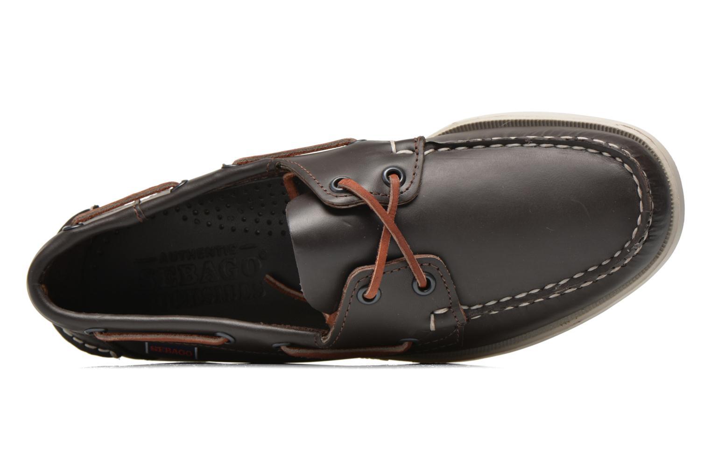 Chaussures à lacets Sebago Docksides M Bordeaux vue gauche