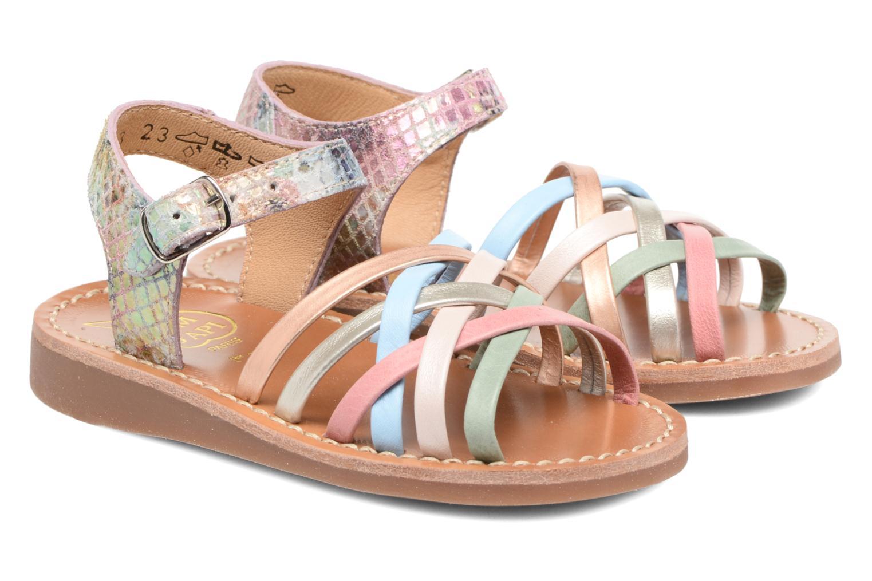 Sandals Pom d Api Yapo Lux Multicolor 3/4 view