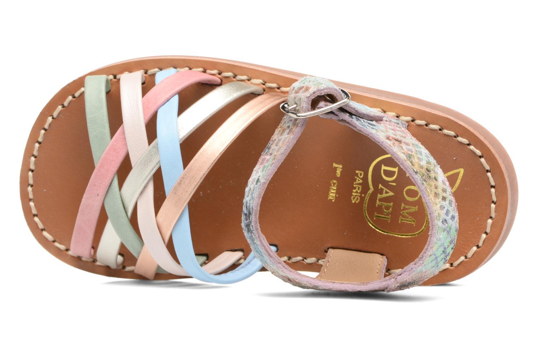 Sandales et nu-pieds Pom d Api Yapo Lux Multicolore vue gauche