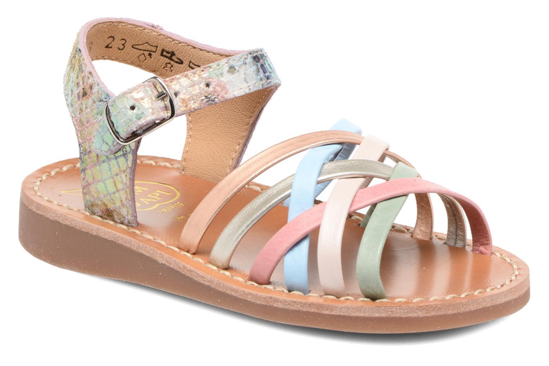 Sandales et nu-pieds Pom d Api Yapo Lux Multicolore vue détail/paire