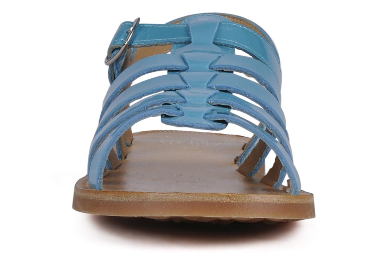Sandalen Pom d Api Plagette Straps blau schuhe getragen