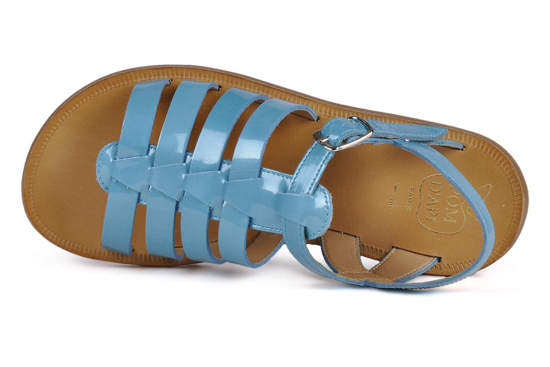 Sandalen Pom d Api Plagette Straps blau ansicht von links