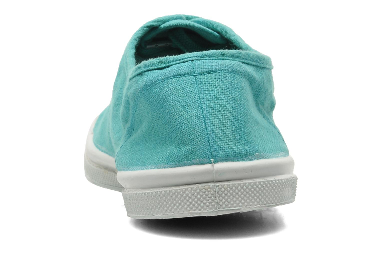 Trainers Bensimon Tennis Lacets Green view from the right