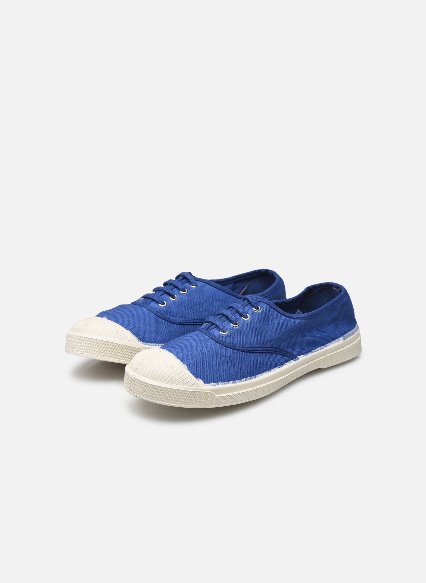Trainers Bensimon Tennis Lacets Blue view from underneath / model view