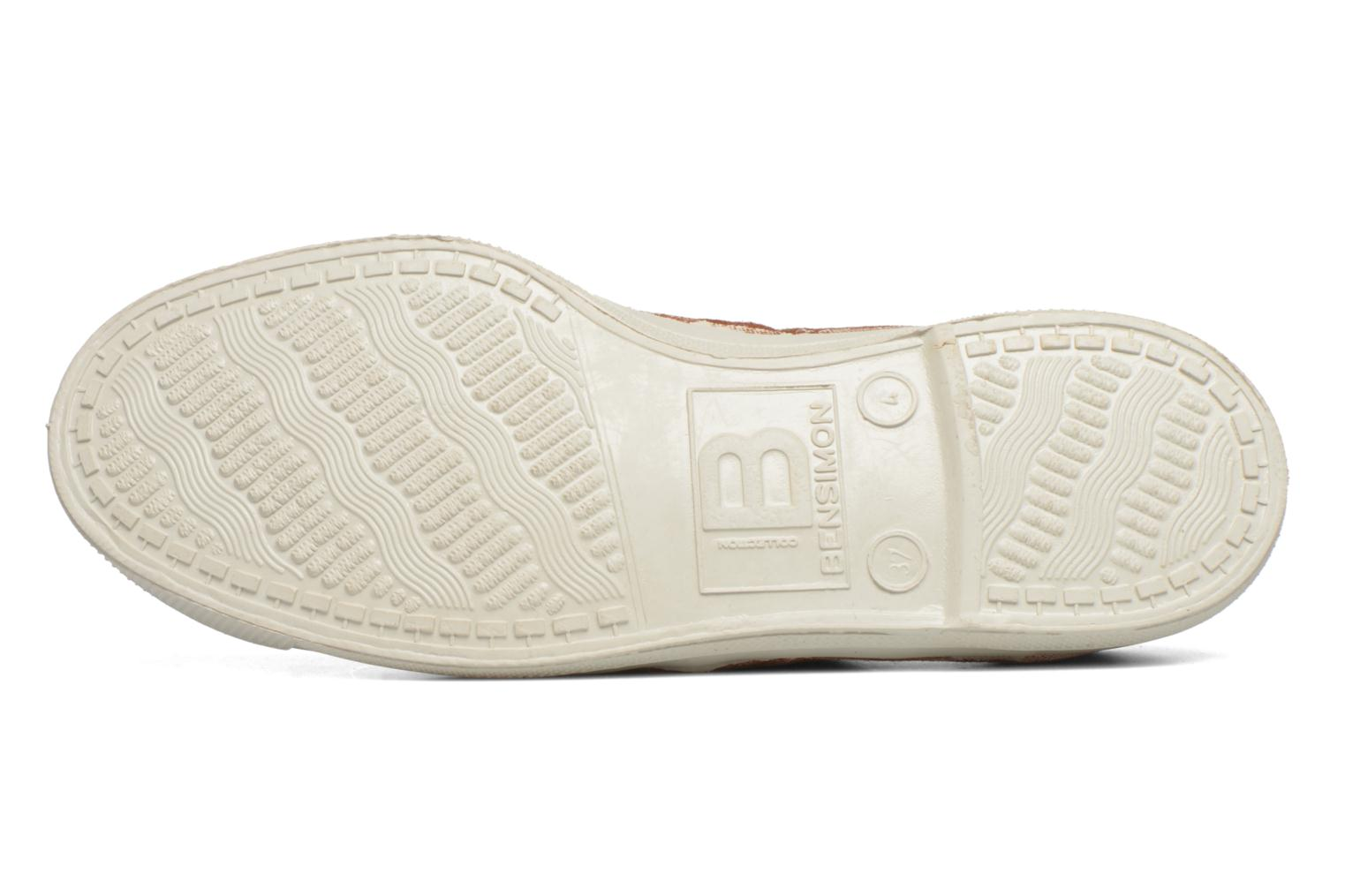 Trainers Bensimon Tennis Lacets Brown view from above