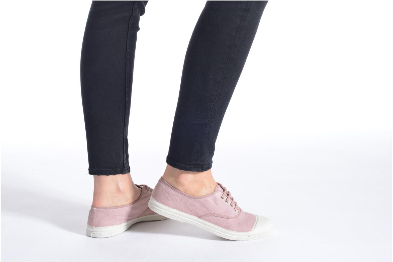 Sneaker Bensimon Tennis Lacets weinrot ansicht von unten / tasche getragen