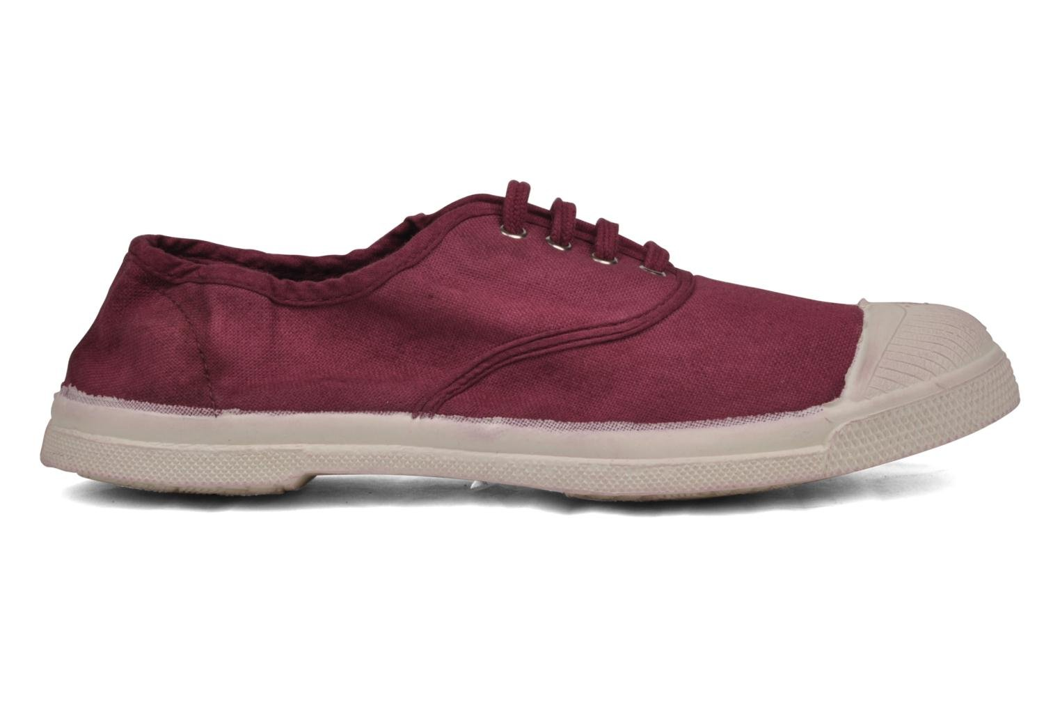 Trainers Bensimon Tennis Lacets Burgundy back view