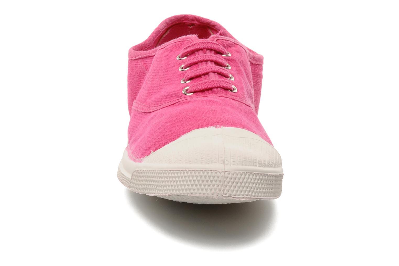 Baskets Bensimon Tennis Lacets W Rose vue portées chaussures