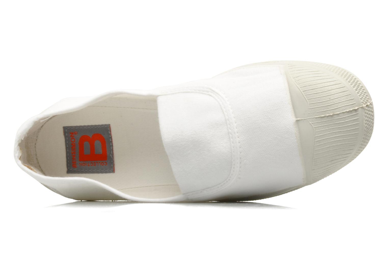 Ballerines Bensimon Tennis Elastique Blanc vue gauche