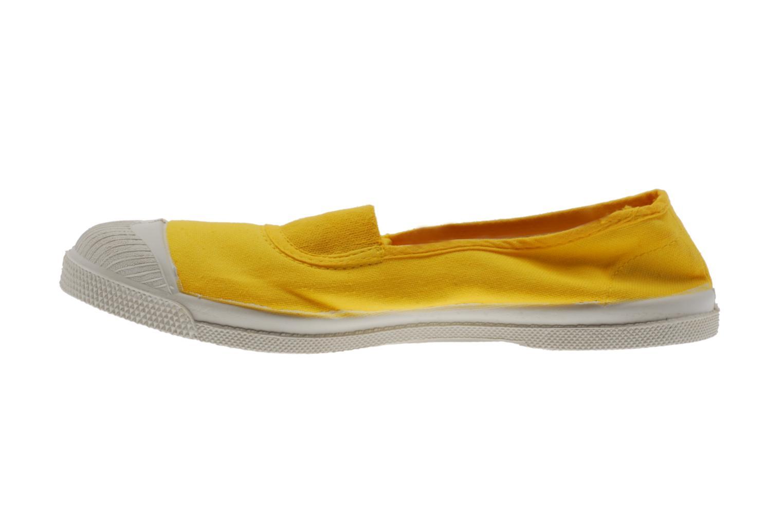 Ballerinas Bensimon Tennis Elastique gelb ansicht von vorne