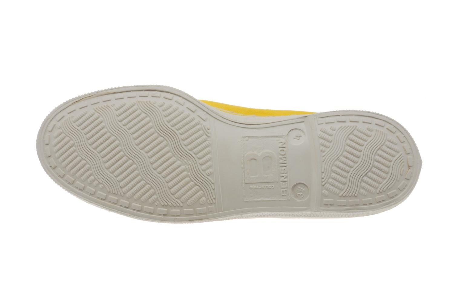 Ballet pumps Bensimon Tennis Elastique Yellow view from above