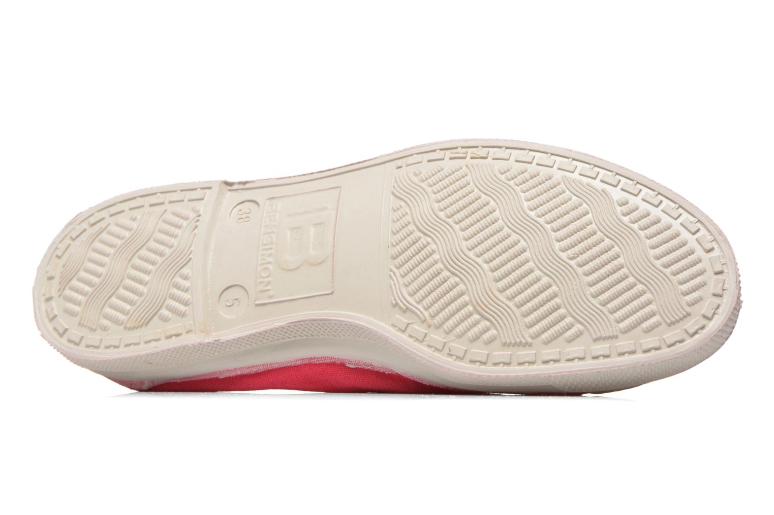 Ballet pumps Bensimon Tennis Elastique Red view from above