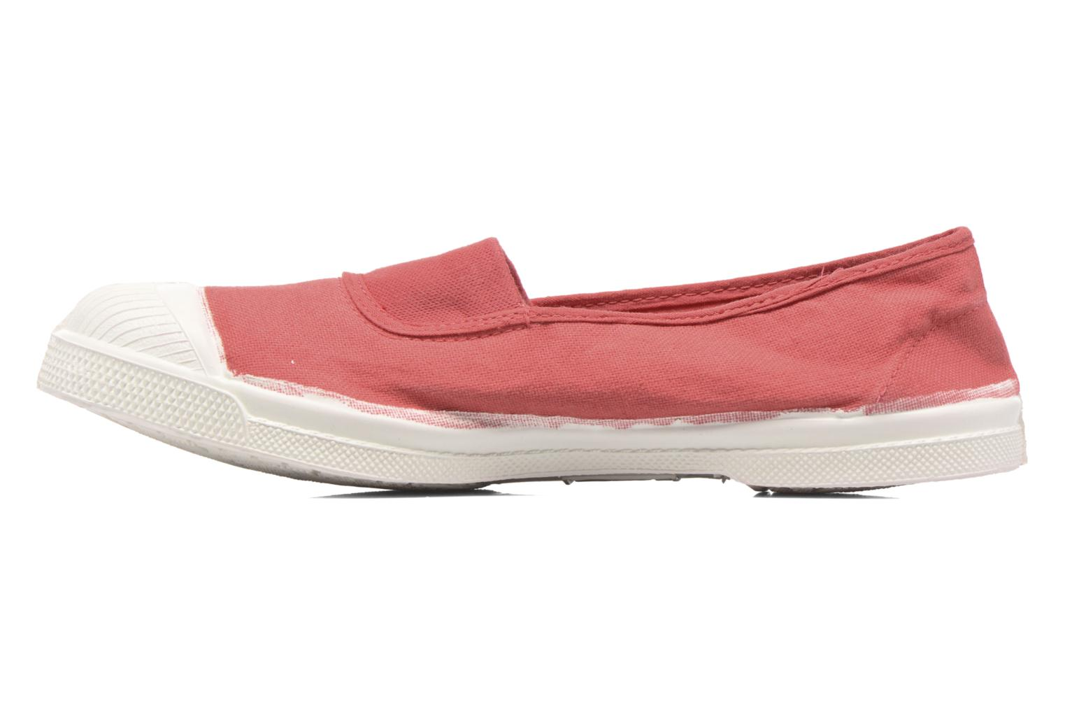 Ballerines Bensimon Tennis Elastique Rose vue face