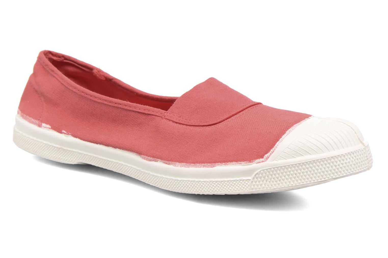 Ballet pumps Bensimon Tennis Elastique Pink detailed view/ Pair view