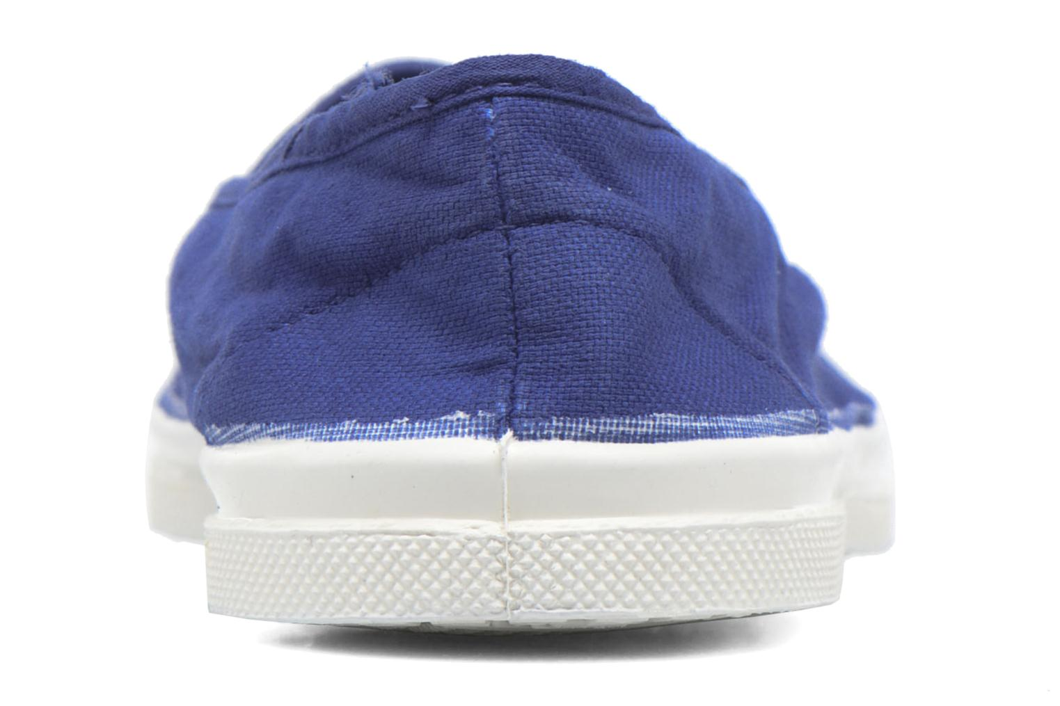 Ballet pumps Bensimon Tennis Elastique Blue view from the right