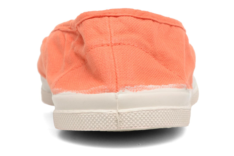 Ballerines Bensimon Tennis Elastique Orange vue droite