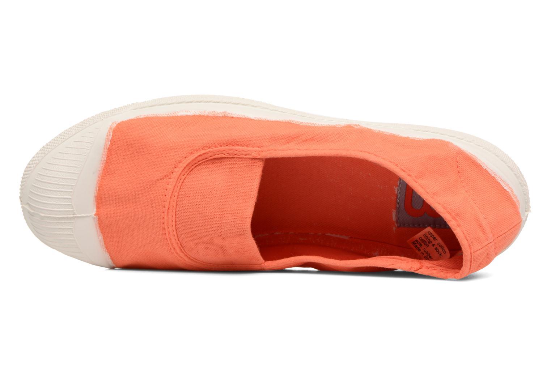 Ballerines Bensimon Tennis Elastique Orange vue gauche