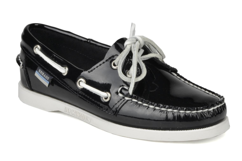 Chaussures à lacets Sebago Docksides W Noir vue détail/paire