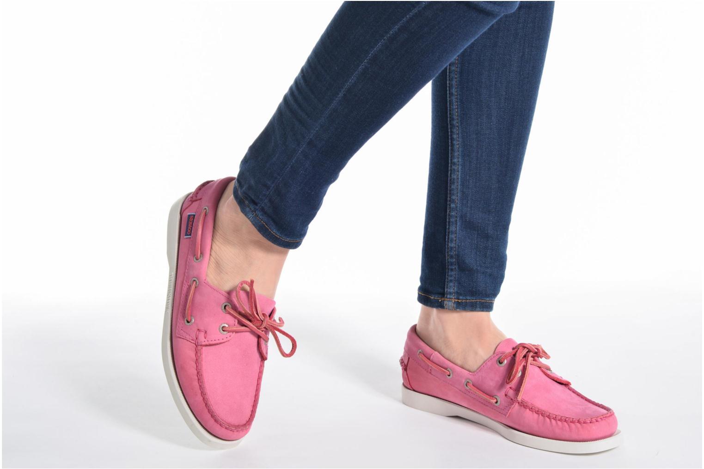 Zapatos con cordones Sebago Docksides W Azul vista de abajo