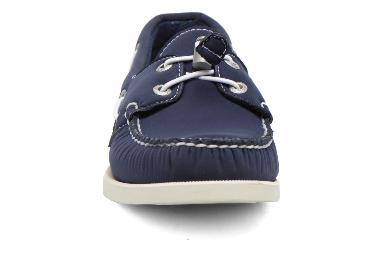 Zapatos con cordones Sebago Docksides W Azul vista del modelo