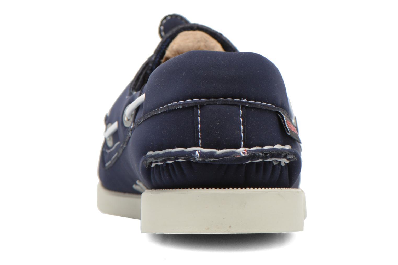 Zapatos con cordones Sebago Docksides W Azul vista lateral derecha