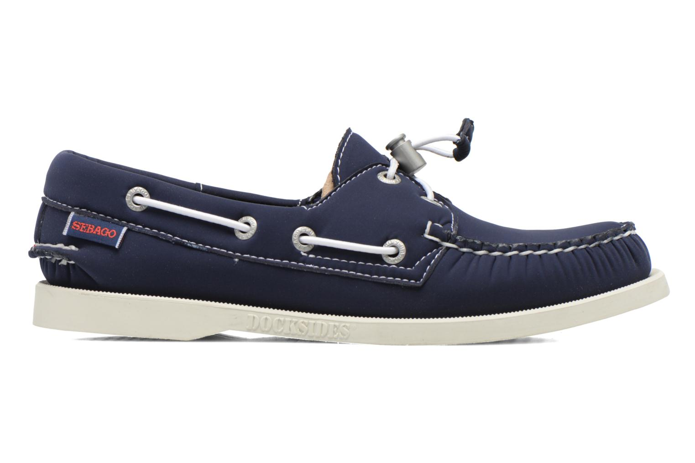 Lace-up shoes Sebago Docksides W Blue back view