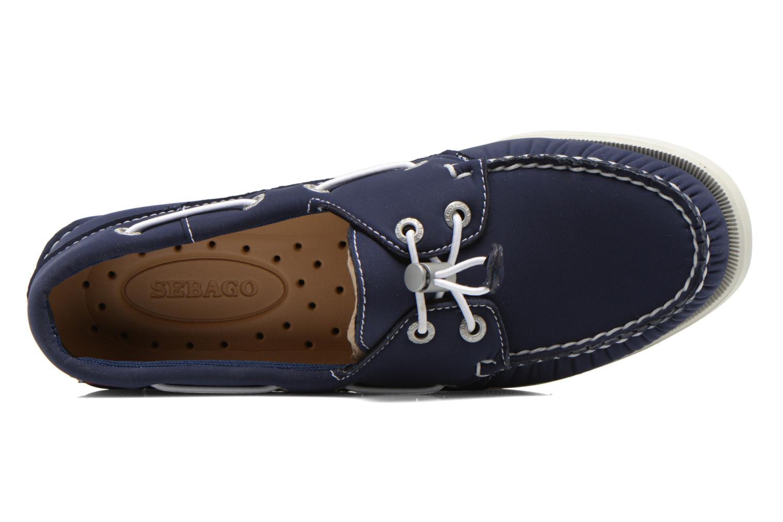 Zapatos con cordones Sebago Docksides W Azul vista lateral izquierda