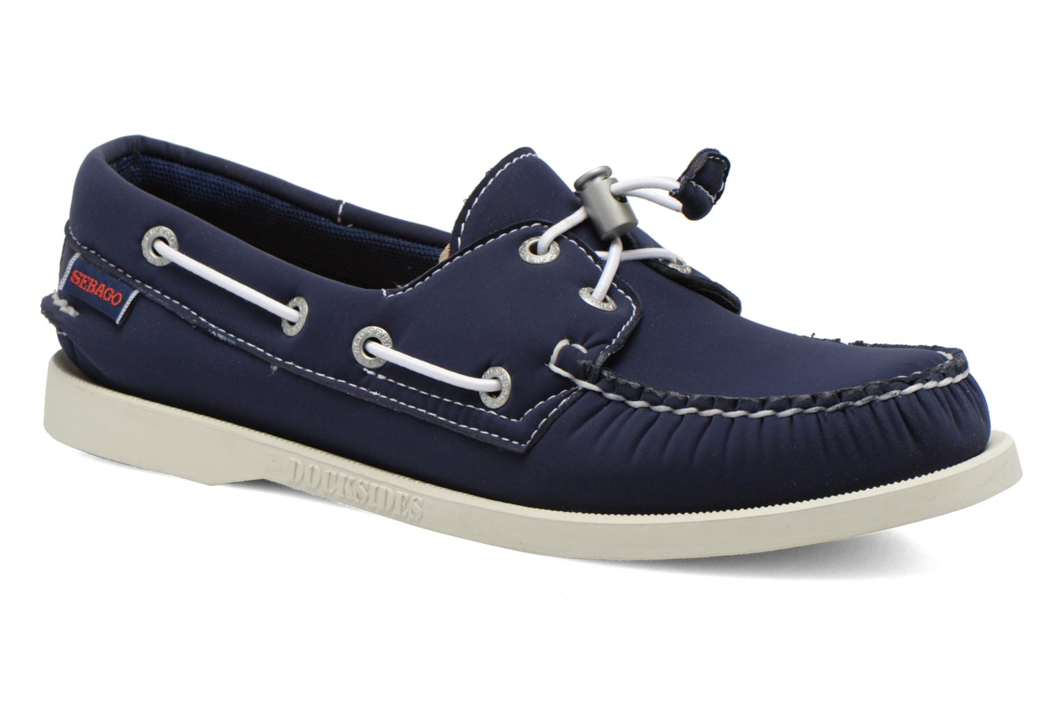 Lace-up shoes Sebago Docksides W Blue detailed view/ Pair view