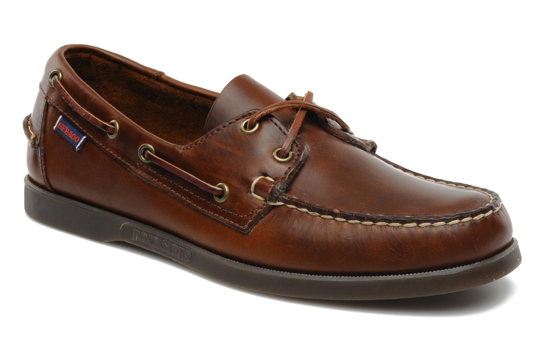 Snörade skor Sebago Docksides M Brun detaljerad bild på paret