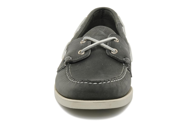 Scarpe con lacci Sebago Docksides M Grigio modello indossato