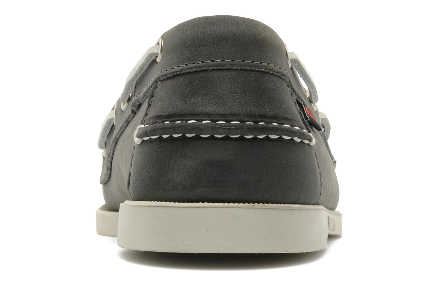 Lace-up shoes Sebago Docksides M Grey view from the right