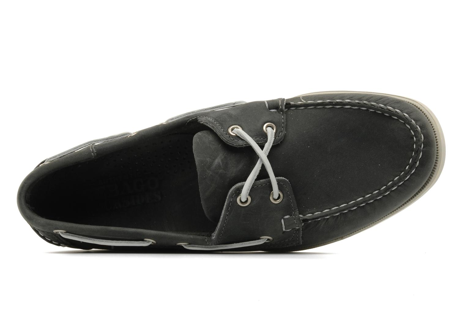 Lace-up shoes Sebago Docksides M Grey view from the left