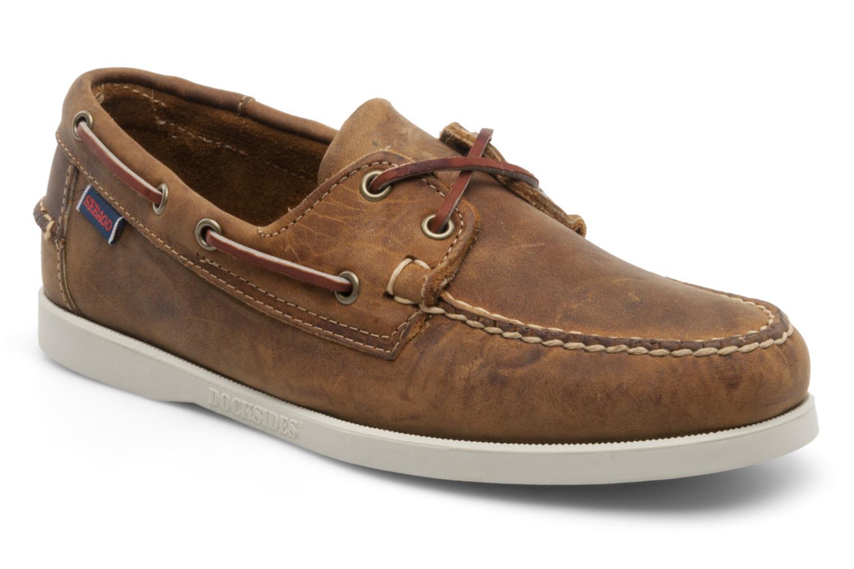 Chaussures à lacets Sebago Docksides M Marron vue détail/paire