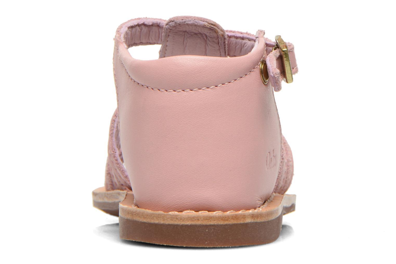 Sandales et nu-pieds Aster Vision Rose vue droite