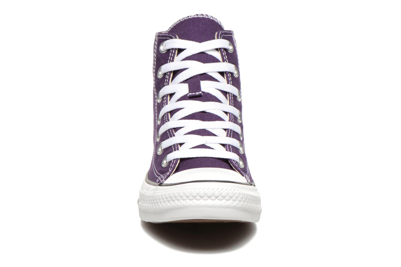 Baskets Converse Chuck Taylor All Star Hi W Violet vue portées chaussures