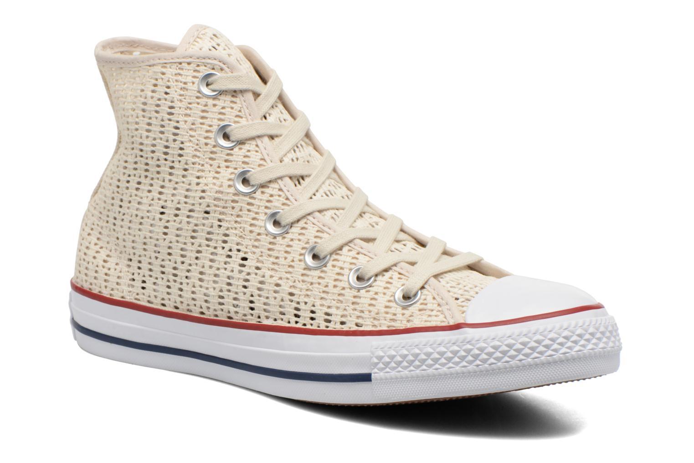 Baskets Converse Chuck Taylor All Star Hi W Beige vue détail/paire