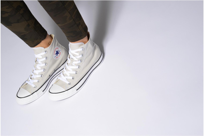 Sneaker Converse Chuck Taylor All Star Hi W blau ansicht von unten / tasche getragen