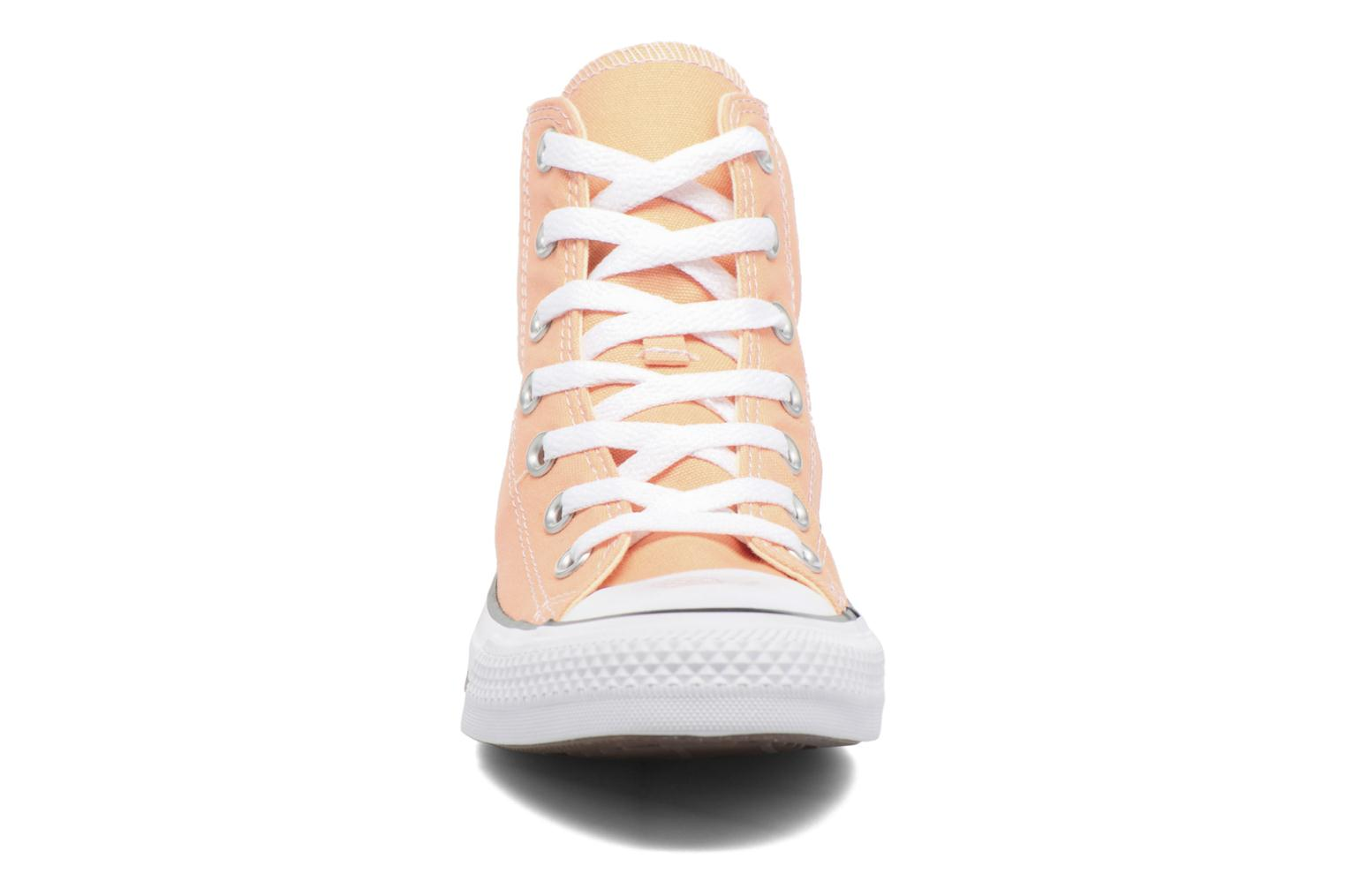 Baskets Converse Chuck Taylor All Star Hi W Orange vue portées chaussures
