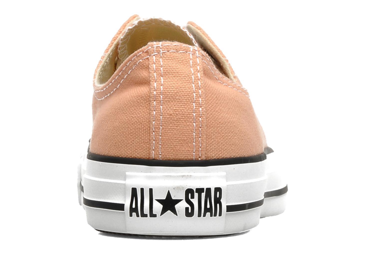 Sneaker Converse Chuck Taylor All Star Ox W orange ansicht von rechts