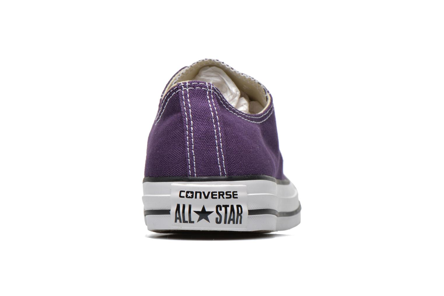 Sneakers Converse Chuck Taylor All Star Ox W Paars rechts