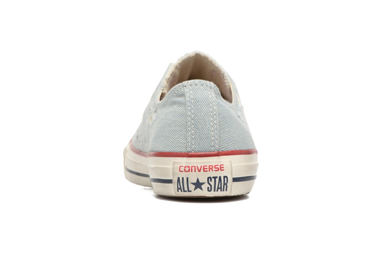 Sneaker Converse Chuck Taylor All Star Ox W blau ansicht von rechts