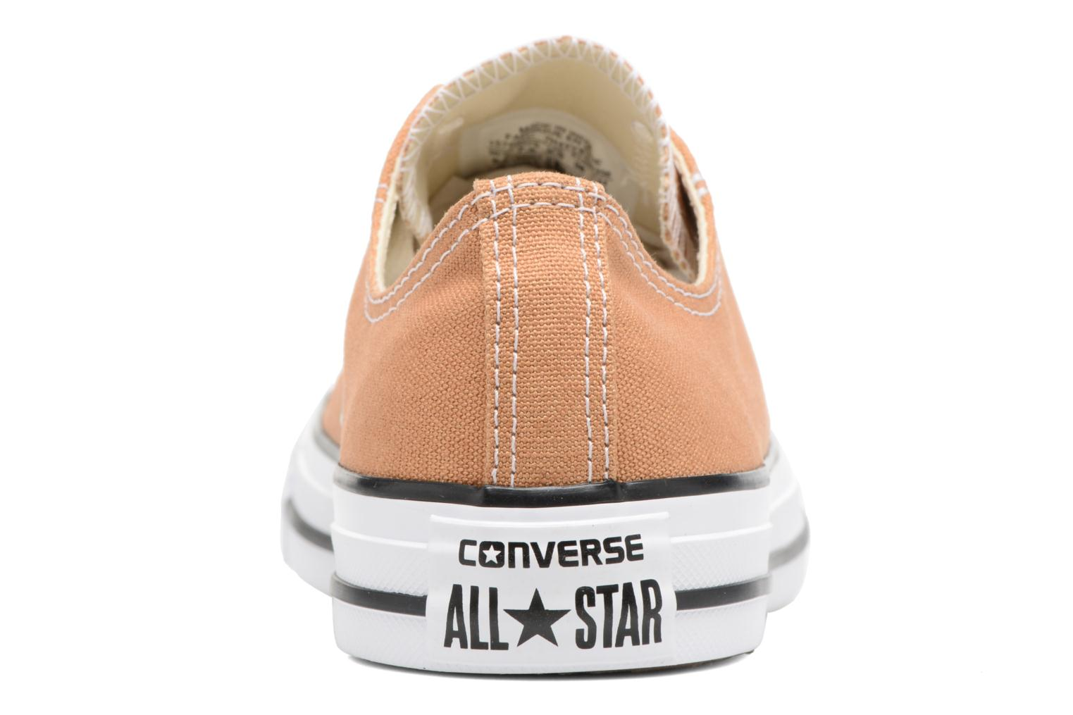 Baskets Converse Chuck Taylor All Star Ox W Orange vue droite