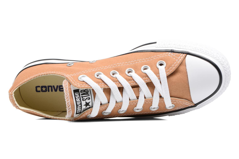 Sneaker Converse Chuck Taylor All Star Ox W orange ansicht von links