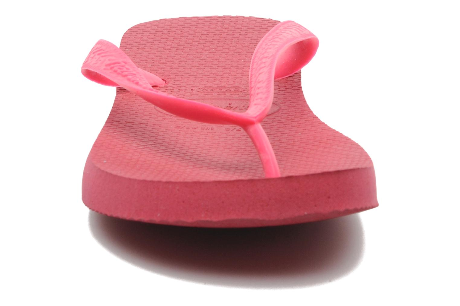 Tongs Havaianas Top F Rose vue portées chaussures
