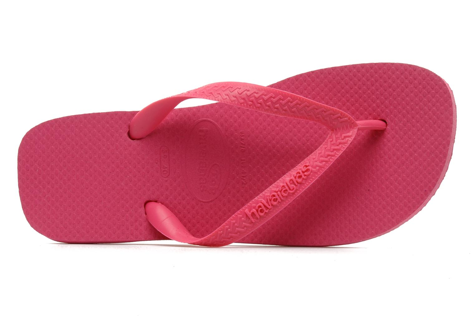 Tongs Havaianas Top F Rose vue gauche