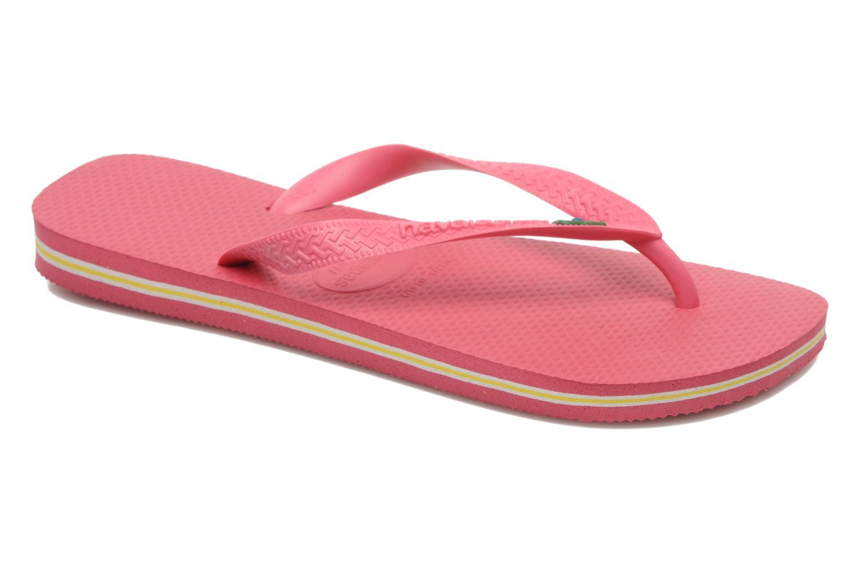 Flip flops & klipklapper Havaianas Brazil Femme Pink detaljeret billede af skoene