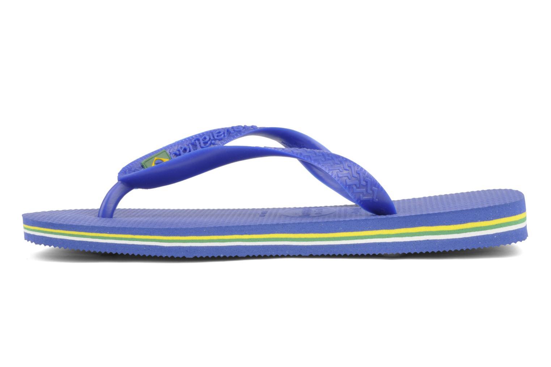 Tongs Havaianas Brazil Femme Bleu vue face
