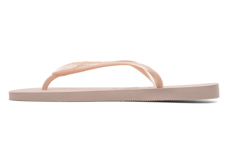 Slippers Havaianas Slim Métallic Femme Roze voorkant